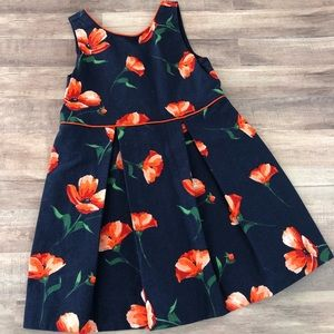 3T JANIE AND JACK Navy floral sundress